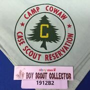 Boy Scout Camp Cowaw Case Scout Reservation Neckerchief Green