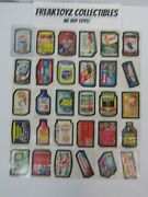 1974 Wacky Packages Series 10 Complete Set Of 30 Sticker Cards Pupsi-cola