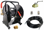 Scheiffer Sewer Jetter Kit - Ball Valve Hose Reel 1/4 X 150and039 Hose And Nozzles