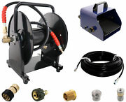 Scheiffer Sewer Jetter Kit - Foot Pedal Hose Reel 1/8 X 150' Hose And Nozzles
