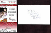 Les Horvath Signed Index Card Autographed Ohio State Certified Au Jsa