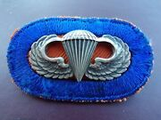 187th Rct Airborne Sterling Silver Jump Wing Oval Patch Rare Badge Pin Military