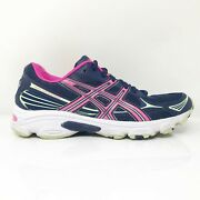 Asics Womens Gel Vanisher T75bq Blue Pink Running Shoes Lace Up Low Top Size 7.5
