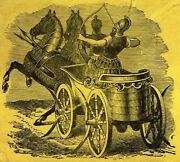 Horse Drawn Chariot With Ancient Warriors - Massachusetts Ad Cover W Us 210
