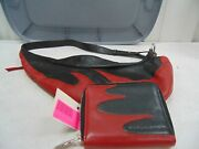 Harley Davidson Red And Black Flame Purse And Matching Wallet