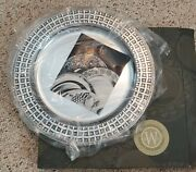 New Nib Wilton Armetale Basket Weave Round Mission Tray Platter Charger 12 3/8