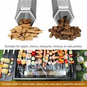 12'' Bbq Wood Smoker Tube Pipe Pellet Box Smoke Charcoal Gas Grill Grilling Meat