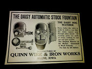 1916 Daisy Hog Waterer - Quinn Wire And Iron Works Farm Advertising - Boone - Iowa
