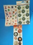 Lot 3 Packages Halloween Stickers Embellishments Martha Stewart American Crafts