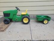 John Deere 4300 Pedal Tractor With Etrl Trailer Cart Wagon