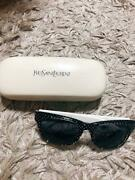 Yves Saint Laurent Sunglasses Black Women With Case Used No Damage Or Dirt