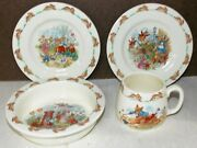 Royal Doulton Bunnykins Bowl 2x Dishes And Childs Cup Nice 4 Pieces