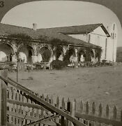 Keystone Stereoview Of Santa Ines Mission From Rare California Missions Set 33
