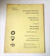 Vintage 1963 Watkins Glen 7th Annual Glen Classic Official Results And Lap Charts