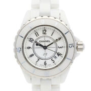 Watches H0968 White Silver White Ceramic Stainless Steel J12 Used