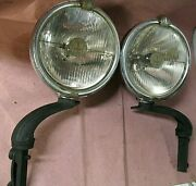 Pair Senior Trippe Lights Lamps Off Classic Car Cadillac Packard Lincoln