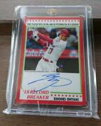 Topps Card Shohei Otani Limited To 10 Autograph Cards