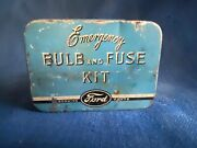 Vintage Ford Emergency Bulb And Fuse Kit Tin W/contents Complete Unused 1930
