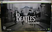Xbox 360 The Beatles Rockband Limited Edition Wireless Guitar Drum Set See Pics