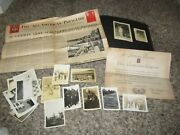 Ww2 Wwii 82nd Airborne Band Paratrooper Photo Album Document Lot