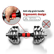 66 Lbs Weight Dumbbell Set Adjustable Cast Iron Steel Plates Fitness Gym Home