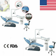 Dental Unit Chair Hard Leather Computer Controlled /highandlow Speed Handpiece Kit