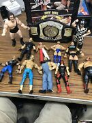 Tara Toys Official Wwe Superstar Action Figure Carrying Case W/ 11 Figures