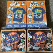 2 Tshirt And 2 Tin Lunch Box Atune Squad Space Jam Exclusive Collector Edition