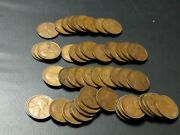 Usa 1924-p Nice Roll Of Circulated Cents