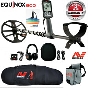 Minelab Equinox 800 Waterproof Metal Detector With Protective Carry Bag + Pouch