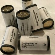 2013 D- Theodore Roosevelt 26 Presidential Dollar 25 Coin Roll Uncirculated
