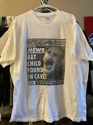 Vintage Bat Child Found In Cave Shirt Horror Newspaper Article 90s Size Xl