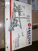 Gilbert Erector No. 10201 The Rocket Launcher Set Metal Case And Packing Inserts