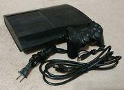 Sony Playstation 3 Ps3 Super Slim 500gb Black Game Console - Tested W/ Cables