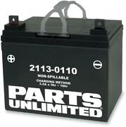 Parts Unlimited Agm Factory Activated Maintenance-free Battery - U1-32