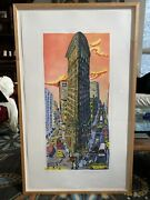 Red Grooms Flatirons Building 1995 Pencil Signed And Framed Limited Edition 15/75