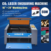 Omtech 60w 16x24 Co2 Laser Engraver Engraving Machine Ruida With Rotary Axis B
