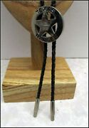 Awesome Unusual Vintage Bolo Tie 18 1/2 Long Texas Ranger With Bullet Tips