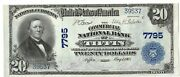 1902 1905 Gem Cu Commercial National Bank Of Tiffin Ohio 20 Dollar Bank Note