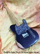 Fender Brad Paisley Esquire Black Sparkle Awesome, Sweet To Play Low Fast Action