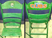 ⚾ Wrigley Field Chair Seat 2016 World Series Sandberg Champs Banks Chicago Cubs⚾