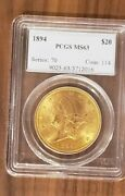 20 Liberty Head 1894 Gold Coin Ms 63