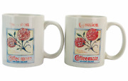 Carnation Coffee Mate Non Dairy Creamer Coffee Cups Set Of 2 Made In 1993