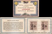 Us Ps15 100 Savings Bond Book, Contains Four 5 Stamps, Book Missing One Page