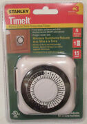 Stanley Timeit Heavy Duty Daily Grounded Timer 51192 Mt122 New 15 Amp