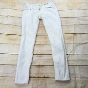 Miss Me Size 27 Skinny Jeans White Flap Pockets Discolored Stained