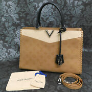 Louis Vuitton Very Zipped Leather Beige Light Brown Tote Shoulder Bag 1 Rise-on