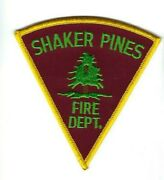 Shaker Pines Fire Dept. In Enfield Hartford Co. Ct Connecticut Patch Clothback
