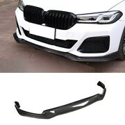 Fit For 2021-2022 Bmw 5 Series Dry Carbon Fiber Front Bumper Lip Chin Spoiler
