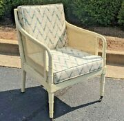 1970s Vintage Hickory Chair Company Cane And Mahogany Armchair